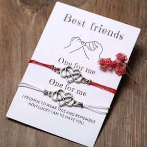 Jewelry - BEST FRIENDS Eternal Love Charm Rope Bracelet Set